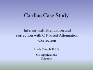 Cardiac Case Study