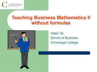 Teaching Business Mathematics II without formulas