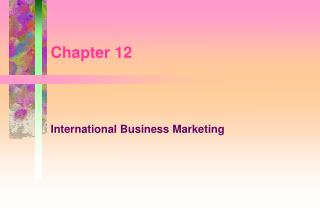International Business Marketing