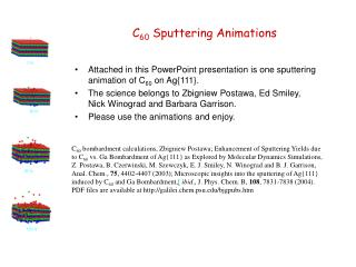 C 60 Sputtering Animations