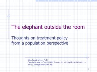 The elephant outside the room
