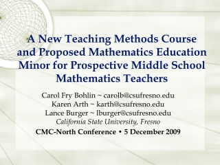 Foundational-Level Mathematics Credential: What s New