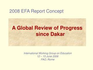 2008 EFA Report Concept