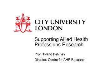 Supporting Allied Health Professions Research
