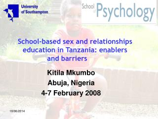 School-based sex and relationships  education in Tanzania: enablers and barriers