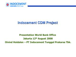 Indocement CDM Project