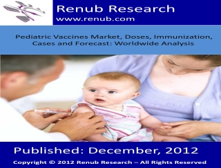 Pediatric Vaccines Market, Doses, Immunization, Cases and Fo