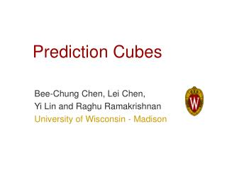 Prediction Cubes