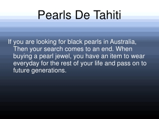 Black Pearl Earrings in Australia