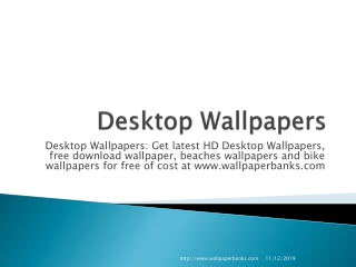 Desktop Wallpapers