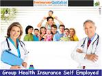 Group Health Insurance Self Employed