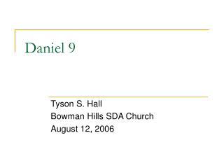 Daniel 9