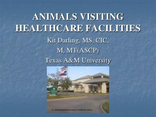 ANIMALS VISITING HEALTHCARE FACILITIES