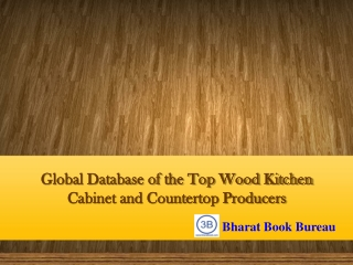 Global Database of the Top Wood Kitchen Cabinet and Counter