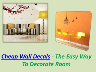 Cheap Wall Decals