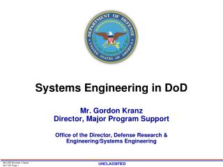Systems Engineering in DoD