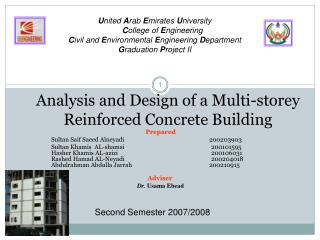 Analysis and Design of a Multi-storey Reinforced Concrete Building