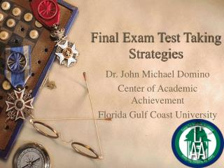 Final Exam Test Taking Strategies