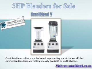 3HP Blenders for Sale