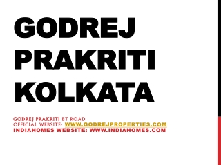 Godrej Prakriti, 2 BHK godrej Prakriti, Godrej Properties