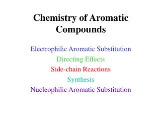 Chemistry of Aromatic Compounds