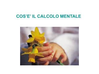 COS E  IL CALCOLO MENTALE