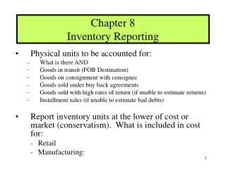 Chapter 8 Inventory Reporting