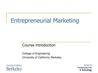 Entrepreneurial Marketing