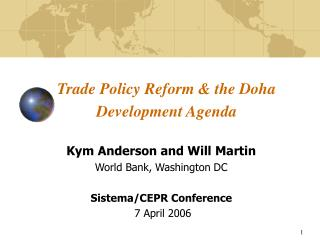 Trade Policy Reform  the Doha Development Agenda
