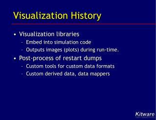 Visualization History