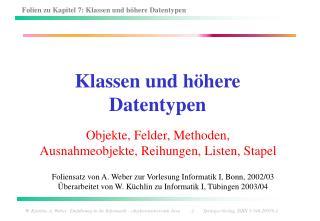 Klassen und h here Datentypen