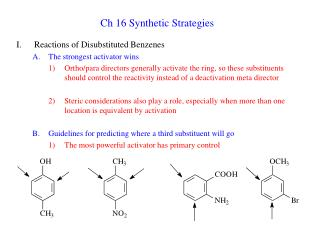 Ch 16 Synthetic Strategies