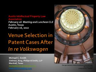 Venue Selection in Patent Cases After In re Volkswagen