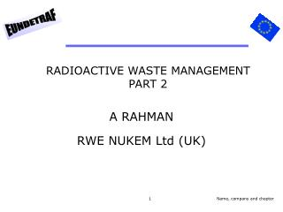 RADIOACTIVE WASTE MANAGEMENT PART 2