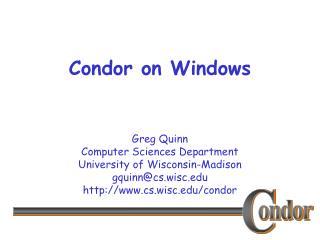 Condor on Windows