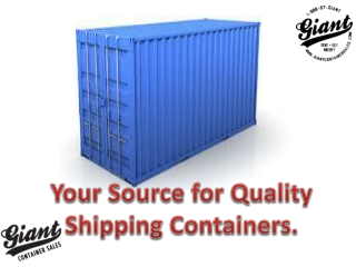 New, used, modified containers for sale