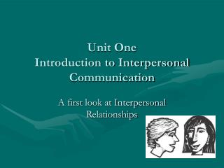 Unit One  Introduction to Interpersonal Communication