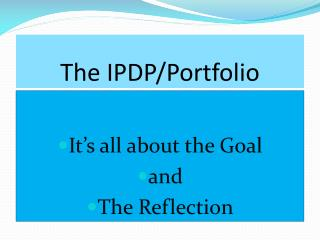 The IPDP