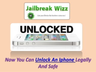 Unlock An IPhone