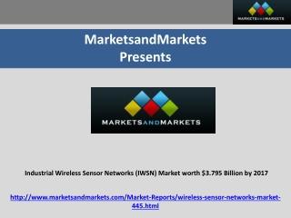 Industrial Wireless Sensor Networks Market