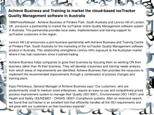 Achieve Business and Training to market the cloud-based