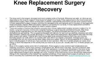 stryker knee replacement