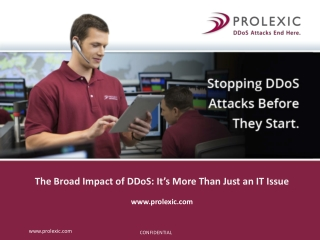 The Broad Impact od DDoS: It's More than Just an IT Issue