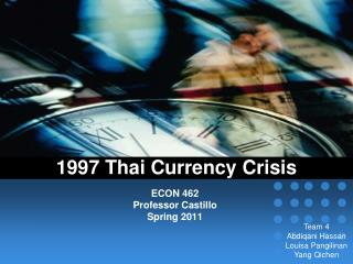 1997 Thai Currency Crisis