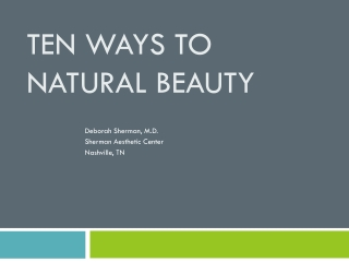 10 Non-Surgical Ways to Beauty