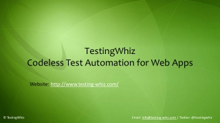 TestingWhiz-Codeless Test Automation for Web Apps