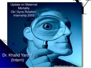 Update on Maternal Mortality Ob