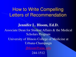 How to Write Compelling Letters of Recommendation