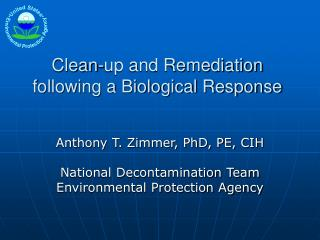 Clean-up and Remediation following a Biological Response