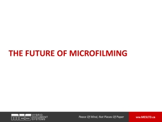 The Future of Microfilming
